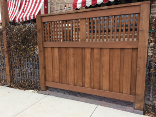 C-0754 - Retail Cedar Fence Stained