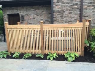 C-0710 - Short Cedar Fence Utility Cover