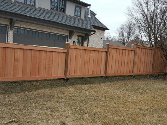 C-0704 – Stepped Cedar Fence