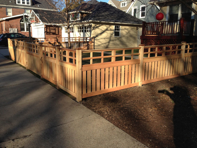C-0762 - Short Cedar Fence with Decorative Top