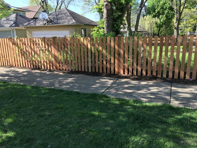 C-0774 – Short Cedar Picket Fence