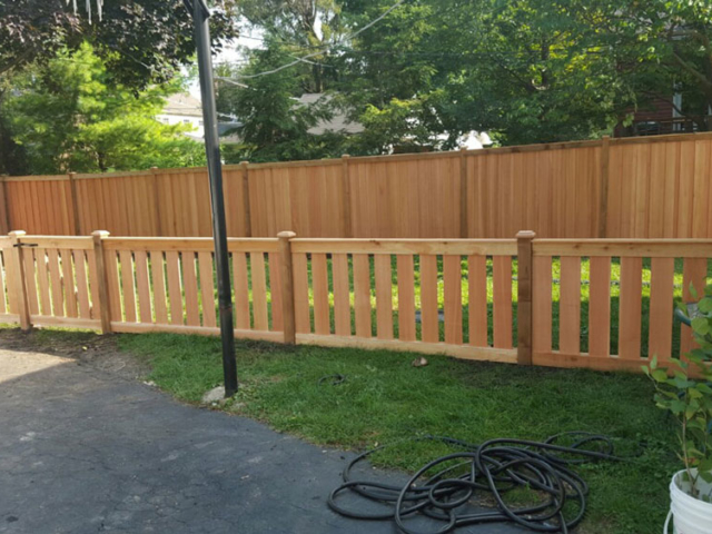 C-0773 – Short Cedar Slat Fence