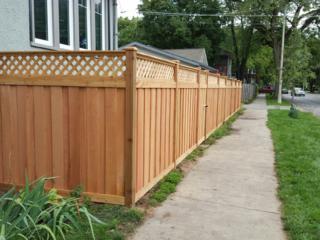 C-0756 - Cedar Fence with Lattice Top