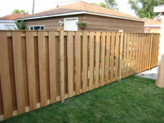 C-0769 – Short Cedar Slat Fence