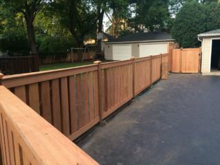 C-0767 – Short Cedar Slat Fence