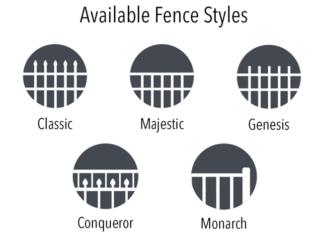 Echelon Aluminum Fence Styles