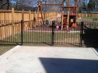 M-0731 – Short Wrought Iron Fence