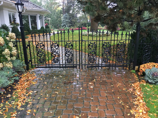 M-0733 - Short Wrought Iron Fence and Gate