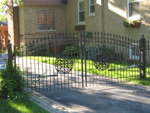 M-0734 - Wrought Iron Gate and Operator
