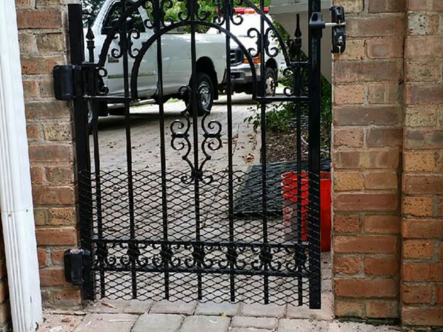 M-0736 - Short Wrought Iron Gate