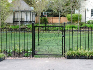 M-0737 - Short Wrought Iron Fence and Gate