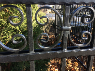 M-0738 - Wrought Iron Fence Decorative Detail
