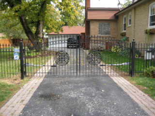 M-0739 - Wrought Iron Gate with Operator