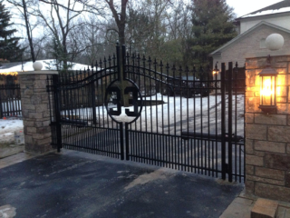 M-0746 - Wrought Iron Gate and Operator