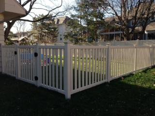 V-0728 - Short Slatted Vinyl Fence
