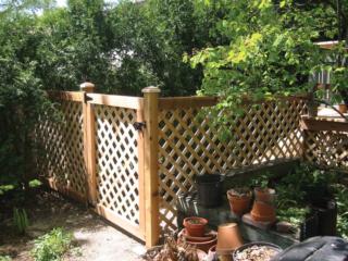 C-0703 - Cedar Lattice Fence