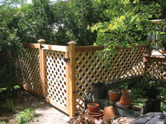 C-0703 - Cedar Lattice Fence