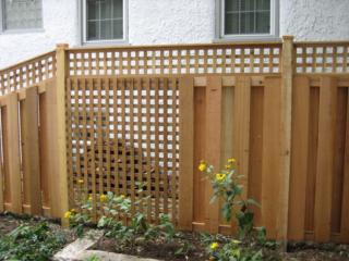 C-0711 - Cedar Lattice Fence