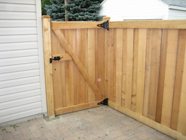 C-0717 - Cedar Fence Gate