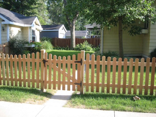C-0707 - Cedar: Dog Ear Picket Gate and Fence