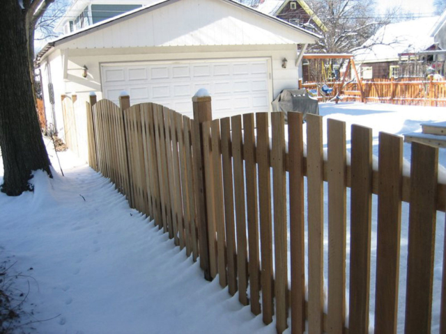 C-0720 - Cedar Picket Fence