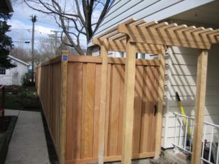 C-0729 - Cedar Fence with Pergola