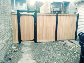 CS-0102 - Cedar with Steel Frame and Gate