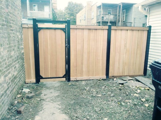 CS-0102 - Cedar with Steel Frame and Gate