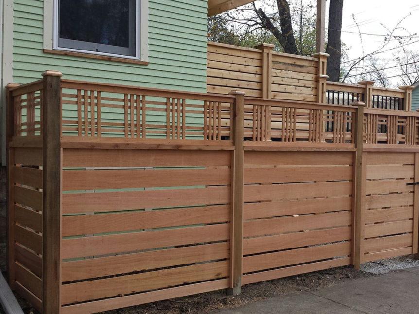 HC-0101 – Horizontal Cedar Fence