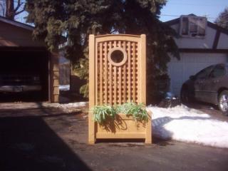 Custom Lattice-High Back Planters 1