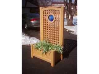 Custom Lattice-High Back Planters 3