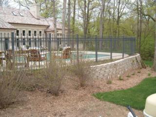 M-0707 - Wrought Iron Fence Surrounding Pool