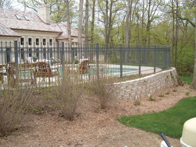 M-0707 - Wrought Iron Fence Surrounding Pool