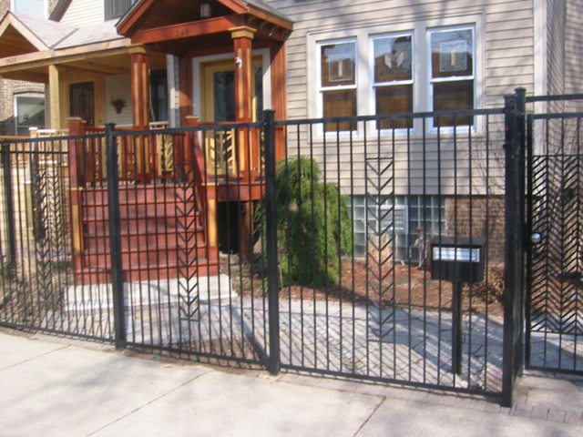 M-0715 - Wrought Iron Fence