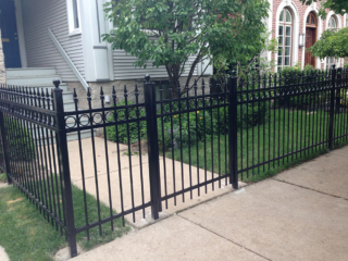S-002 - Short Steel Fence and Gate