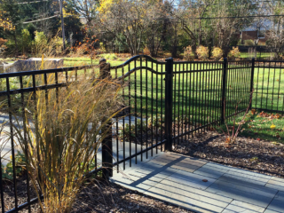 S-004 - Short Steel Fence and Gate
