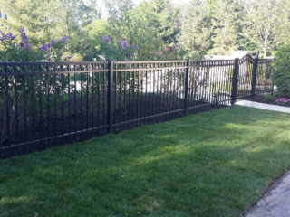 S-005 - Short Steel Fence and Gate