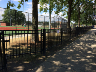 S-007 - Short Steel Fence and Gate
