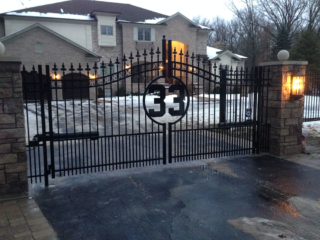 S-014 - Steel Fence and Gate with Opener