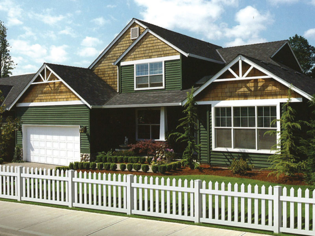 V-0708 - Vinyl Picket Fence
