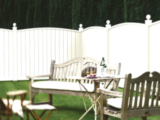 V-710 - Vinyl Privacy Fence with Scallop