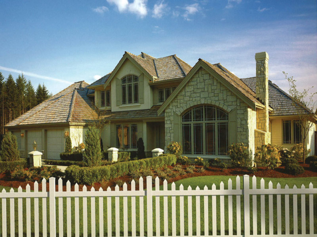 V-0707 - Vinyl Picket Fence