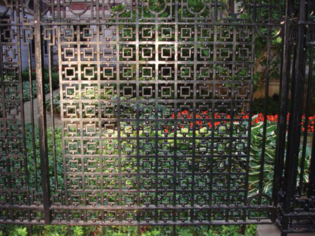 M-0703 - Wrought Iron Decorative Custom Fence