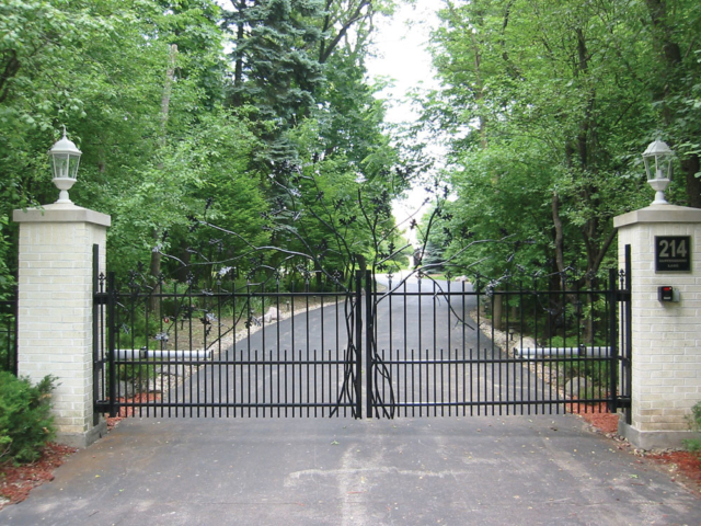 M-0705 - Wrought Iron Custom Gate Design