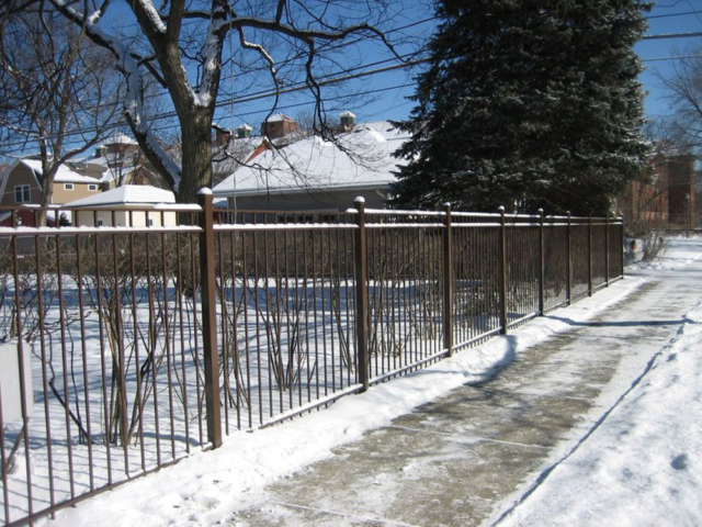 M-0701 - Wrought Iron Fence